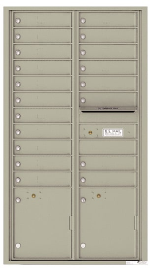 4C16D-19 Front Loading Commercial Surface Mount 4C Mailboxes – 19 Tenant Doors 2 Parcel Lockers Product Image