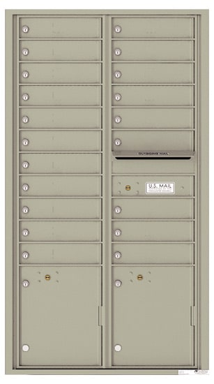 4C16D-20 Front Loading Commercial Surface Mount 4C Mailboxes – 20 Tenant Doors 2 Parcel Lockers Product Image