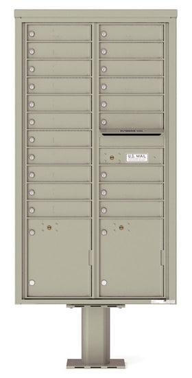 4C16D-20-P Commercial 4C Pedestal Mailboxes – 20 Tenant Doors 2 Parcel Lockers Product Image