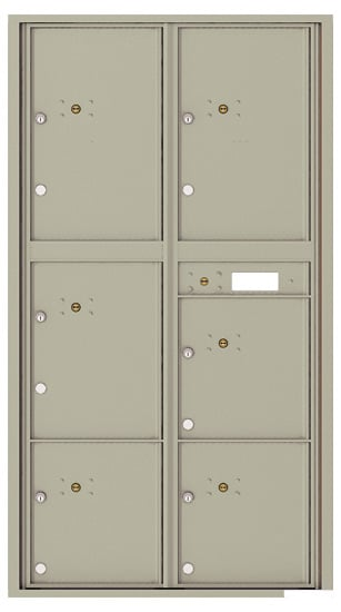 4C16D-6P Front Loading Private Use Commercial 4C Parcel Lockers – 6 Parcel Lockers Product Image
