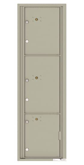 4C16S-3P Front Loading Commercial Surface Mount 4C Parcel Lockers – 3 Parcel Lockers Product Image