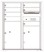 Florence 4C Mailboxes 4CADD-07 White