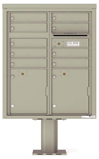 4CADD-09-P Commercial 4C Pedestal Mailboxes – 9 Tenant Doors 2 Parcel Lockers Product Image