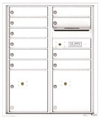 Florence 4C Mailboxes 4CADD-10 White