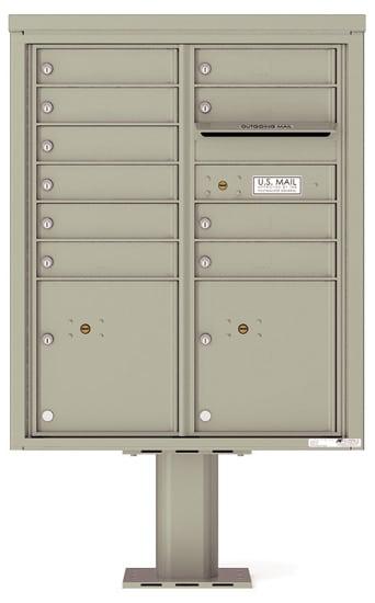 4CADD-10-P Commercial 4C Pedestal Mailboxes – 10 Tenant Doors 2 Parcel Lockers Product Image