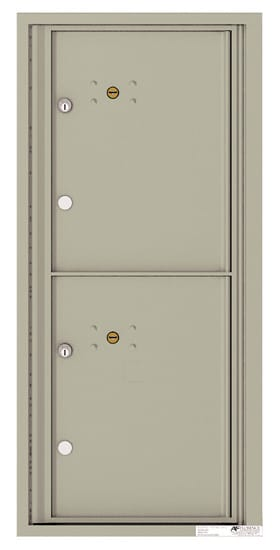 4CADS-2P Front Loading Commercial 4C Mailboxes – 2 Parcel Lockers Product Image
