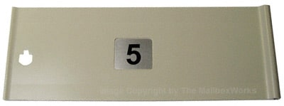 Replacement 5 Inch Tenant Mailbox Door for CBU Cluster Box Unit – K91108SP Product Image