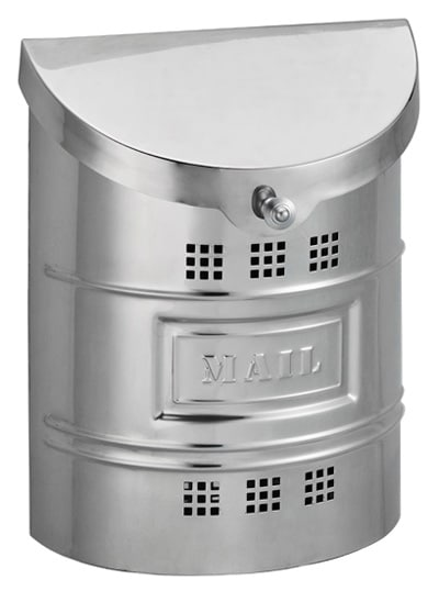 Ecco Stainless Wall Mount Mailbox w Steel Label Product Image