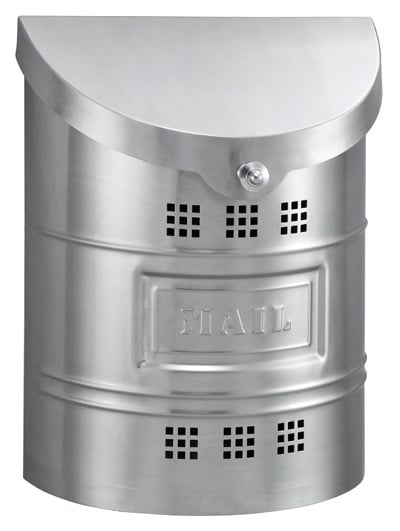 Ecco Brushed Stainless Wall Mount Mailbox w Steel Label Product Image