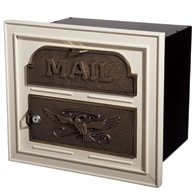 Gaines Classic Faceplate Mailbox Almond Bronze