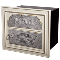 Gaines Classic Faceplate Mailbox Almond Nickel