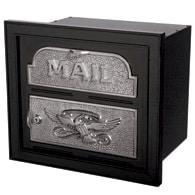 Gaines Classic Faceplate Mailbox Black Nickel