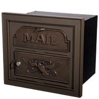 Gaines Classic Faceplate Mailbox Antique Bronze