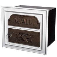 Gaines Classic Faceplate Mailbox White Bronze