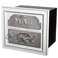 Gaines Classic Faceplate Mailbox White Nickel