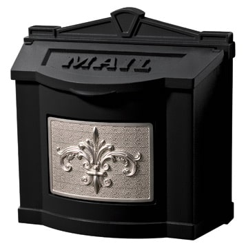 Gaines Fleur De Lis Locking Wall Mount Mailbox Product Image