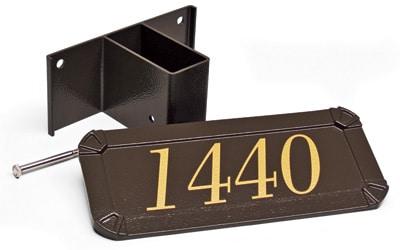 Gaines Keystone Standard Post Address Plaque