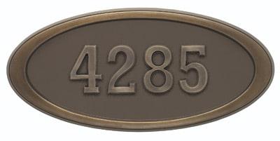 Gaines Large Oval Plaque Antique Bronze