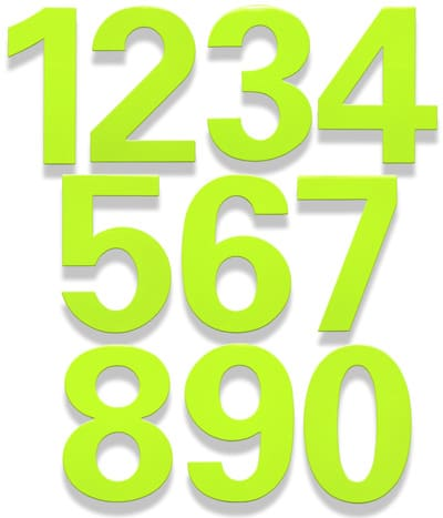 HouseArt 6 Inch House Numbers in Key Lime Product Image