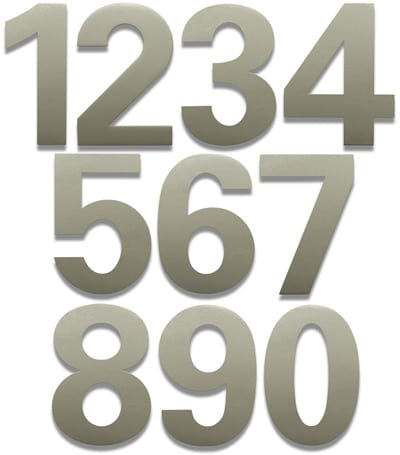 HouseArt Satin Silver 6 Inch House Numbers Product Image