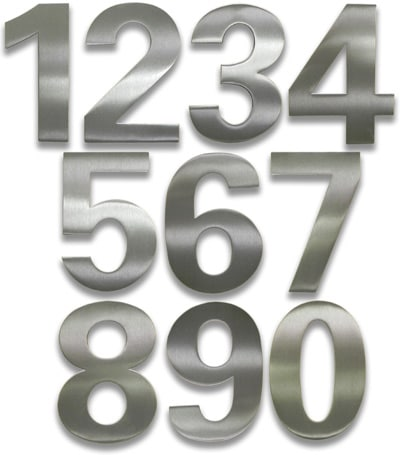 HouseArt Brushed Stainless Steel 6 Inch House Numbers Product Image
