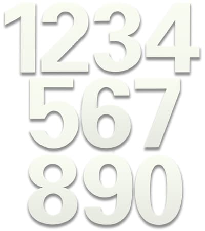 HouseArt 6 Inch House Numbers in Marshmallow White Product Image