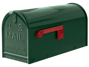 Janzer Mailboxes Gloss Green