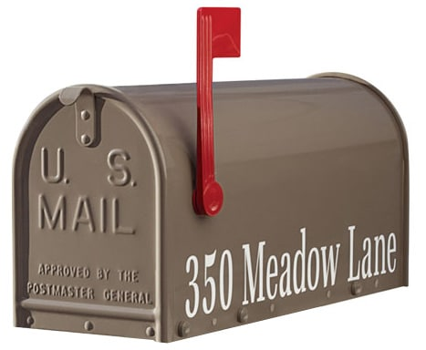 Janzer Mailboxes Side Address Lettering