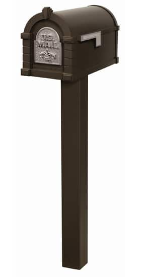 Fleur De Lis Keystone Mailbox and Standard Post Package Product Image