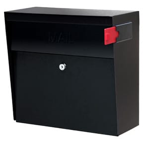 Mail Boss Metro Wall Mount Black
