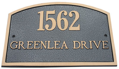 Majestic Solid Brass Camden Address Plaques Product Image