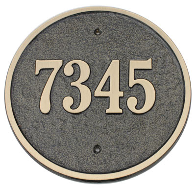 Majestic Solid Brass Circle Address Plaques Product Image