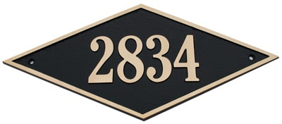 Majestic Solid Brass Diamond Address Plaques Product Image