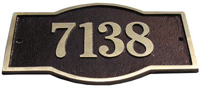Majestic Solid Brass Harmony Address Plaques Product Image