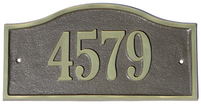 Majestic Solid Brass Kelso Address Plaques Product Image