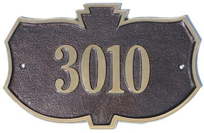 Majestic Solid Brass Kozak Address Plaques Product Image