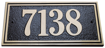 Majestic Solid Brass Large Double Border Address Plaques Product Image