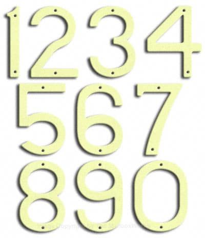 Large Brilliant White House Numbers by Majestic 10 Inch Product Image