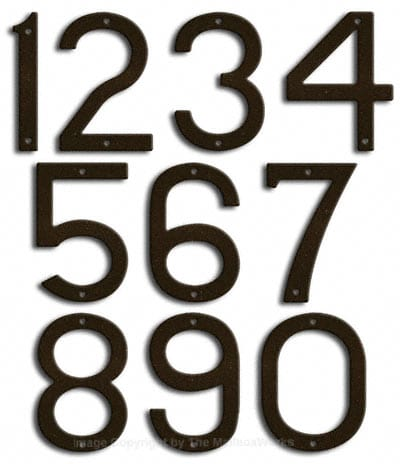 Large Bronze House Numbers by Majestic 10 Inch Product Image