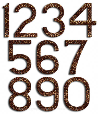 Large Copper Vein House Numbers by Majestic 10 Inch Product Image