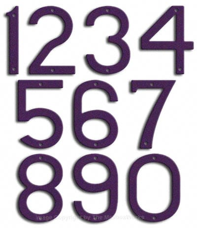 Large Deep Purple House Numbers by Majestic 10 Inch Product Image
