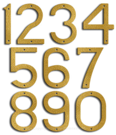 Large Gold House Numbers Majestic 10