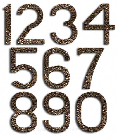 Large Gold Vein House Numbers by Majestic 10 Inch Product Image