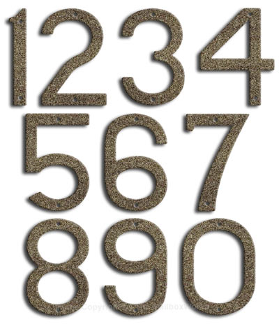 Large Natural Stone House Numbers by Majestic 10 Inch Product Image