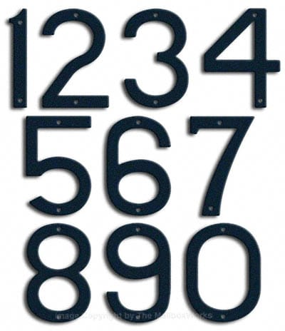 Large Navy Blue House Numbers by Majestic 10 Inch Product Image