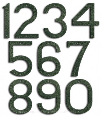 Large Patina House Numbers by Majestic 10 Inch Product Image