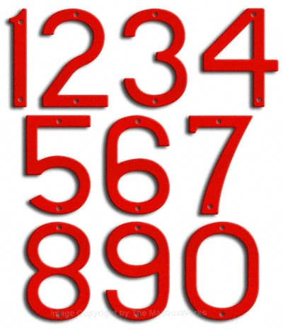 Large Ruby Red House Numbers by Majestic 10 Inch Product Image