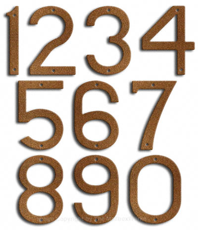 Large Rust House Numbers by Majestic 10 Inch Product Image
