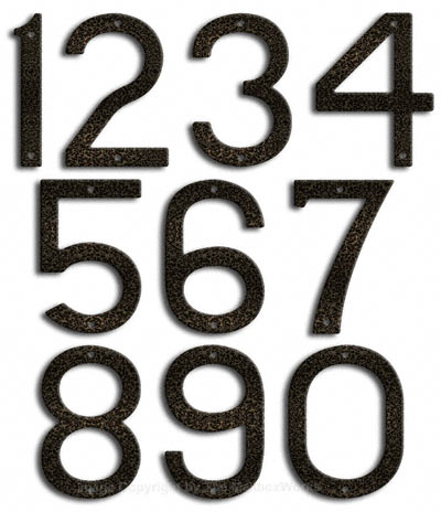 Large Silver Vein House Numbers by Majestic 10 Inch Product Image