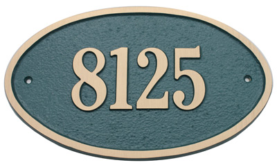 Majestic Solid Brass Large Oval Address Plaques Product Image